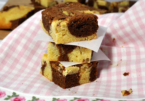 White and Milk Chocolate Brownies