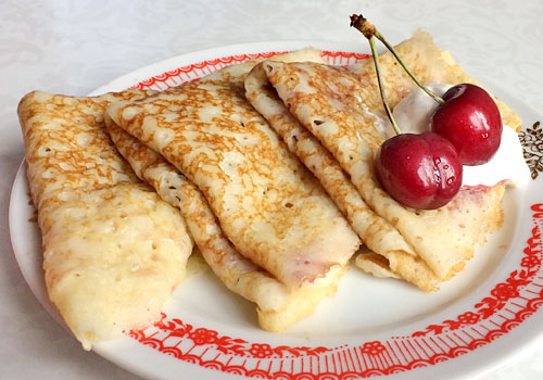 Soft and Fluffy Kefir Crepes