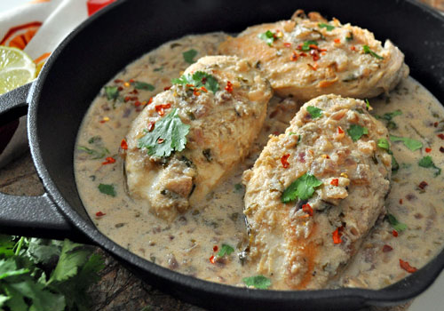Whole30 Chicken in Coconut Sauce