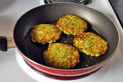 Zucchini Scallion Pancakes (Fritters) photo instruction 5