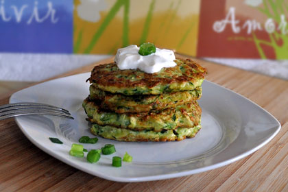 Zucchini Scallion Pancakes (Fritters) photo instruction 6